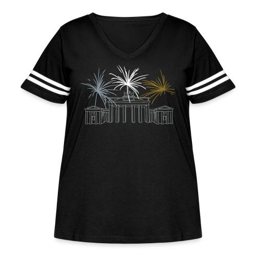 Brandenburg Gate Berlin - Women's Curvy Vintage Sport T-Shirt