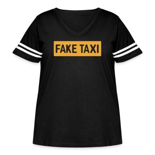 Fake Taxi - Women's Curvy Vintage Sport T-Shirt