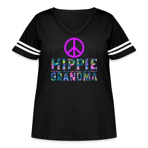 Hippie Grandma - Women's Curvy Vintage Sport T-Shirt