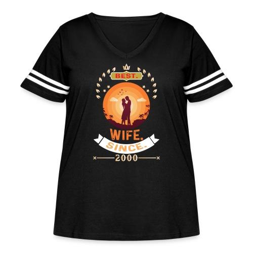 Best Wife Since 2000 - Women's Curvy Vintage Sport T-Shirt