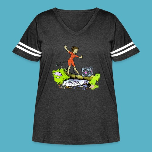 Testing Everywhere! - Women's Curvy Vintage Sport T-Shirt