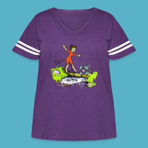 Testing Everywhere! - Women's Curvy Vintage Sport T-Shirt