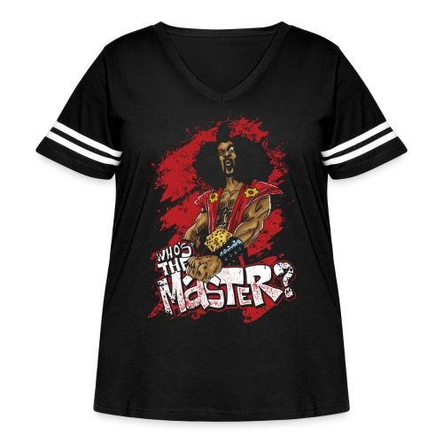 Who's The Master? - Women's Curvy Vintage Sport T-Shirt