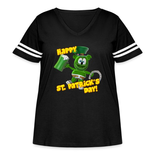 Gummibär (The Gummy Bear) Saint Patrick's Day - Women's Curvy Vintage Sport T-Shirt
