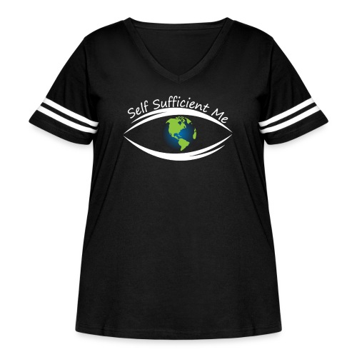Self Sufficient Me Logo Large - Women's Curvy Vintage Sport T-Shirt