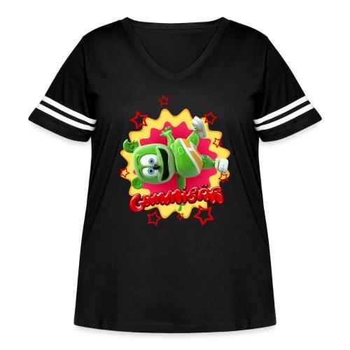 Gummibär Starburst - Women's Curvy Vintage Sport T-Shirt