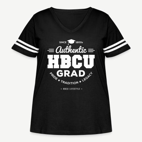 Authentic HBCU Grad - Women's Curvy Vintage Sport T-Shirt