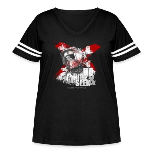 No hide & Seek - Women's Curvy Vintage Sport T-Shirt