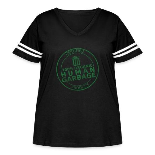 100% Human Garbage - Women's Curvy Vintage Sport T-Shirt