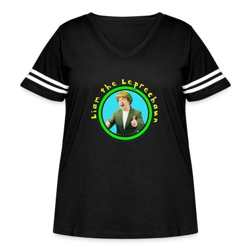 Liam the Leprechaun Tee - Women's Curvy Vintage Sport T-Shirt