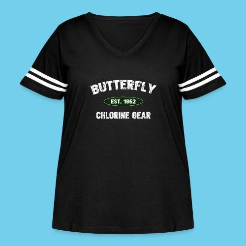 Butterfly est 1952-M - Women's Curvy Vintage Sport T-Shirt