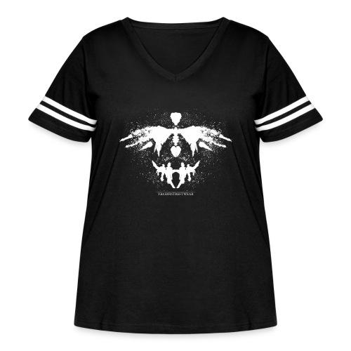 Rorschach_white - Women's Curvy Vintage Sport T-Shirt