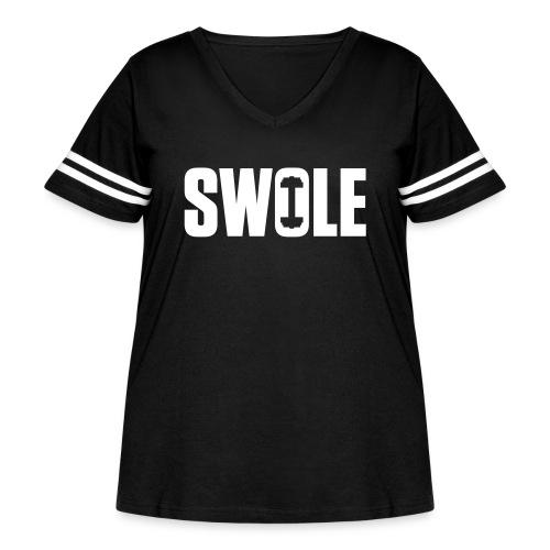 SWOLE - Women's Curvy Vintage Sport T-Shirt