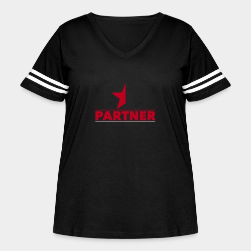 Half-Star Partner - Women's Curvy Vintage Sport T-Shirt