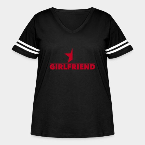 Half-Star Girlfriend - Women's Curvy Vintage Sport T-Shirt