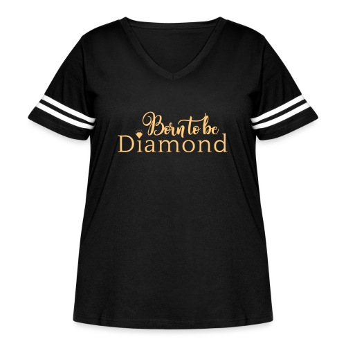 Born to be Diamond - gold - Women's Curvy Vintage Sport T-Shirt