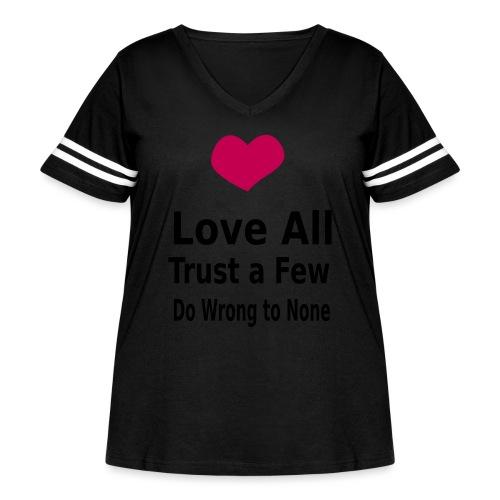 Love All - Women's Curvy Vintage Sport T-Shirt
