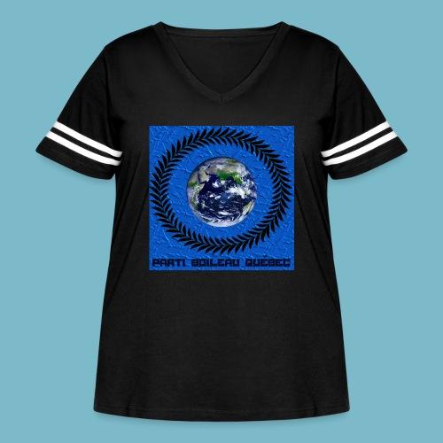 party boileau 5 - Women's Curvy Vintage Sport T-Shirt