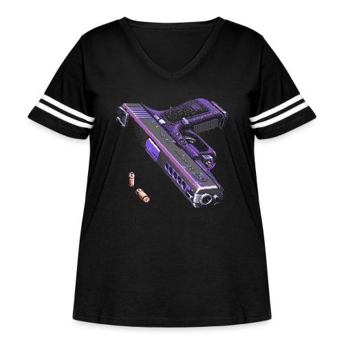 Gun - Women's Curvy Vintage Sport T-Shirt