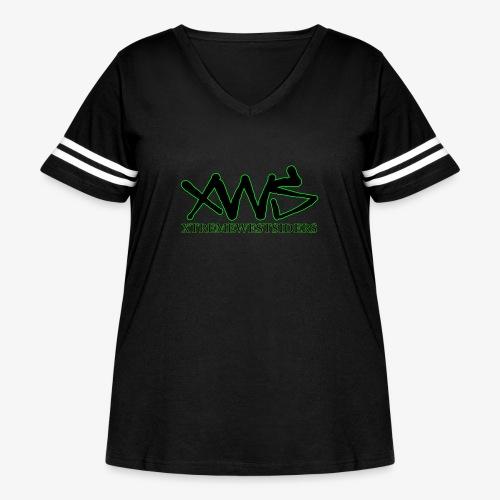 XWS Logo - Women's Curvy Vintage Sport T-Shirt