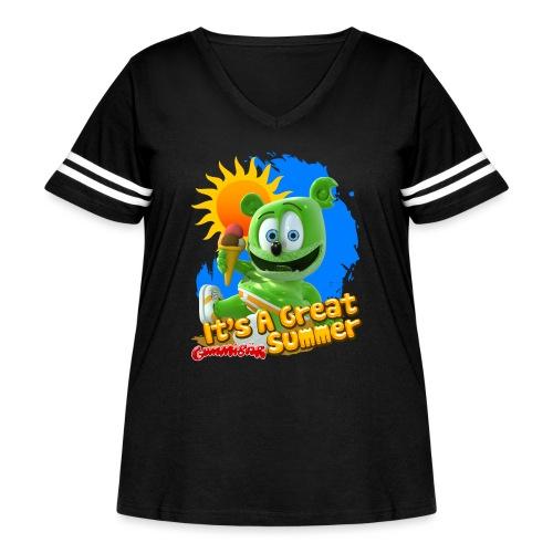 It's A Great Summer - Women's Curvy Vintage Sport T-Shirt