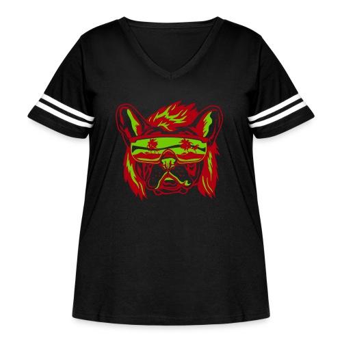 Beach Pooch - Women's Curvy Vintage Sport T-Shirt