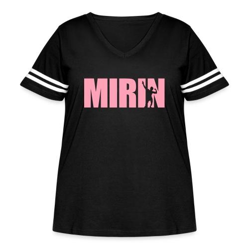 Zyzz Mirin Pose text - Women's Curvy Vintage Sport T-Shirt