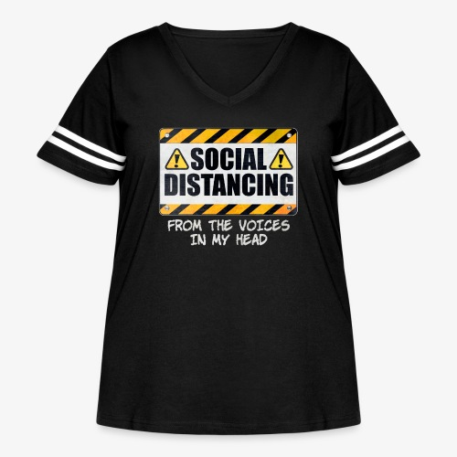 Social Distancing from the Voices In My Head - Women's Curvy Vintage Sport T-Shirt