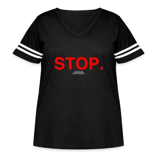 stop - Women's Curvy Vintage Sport T-Shirt