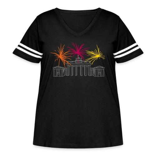 Newyearseve at Brandenburg Gate Berlin - Women's Curvy Vintage Sport T-Shirt