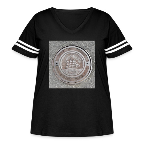Sewer Tee - Women's Curvy Vintage Sport T-Shirt