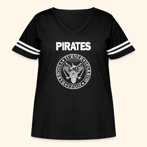 Punk Rock Pirates [heroes] - Women's Curvy Vintage Sport T-Shirt