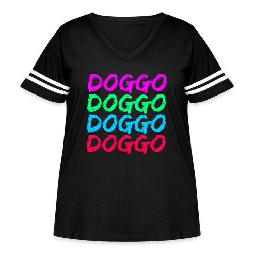 That 70's Doggo - Women's Curvy Vintage Sport T-Shirt