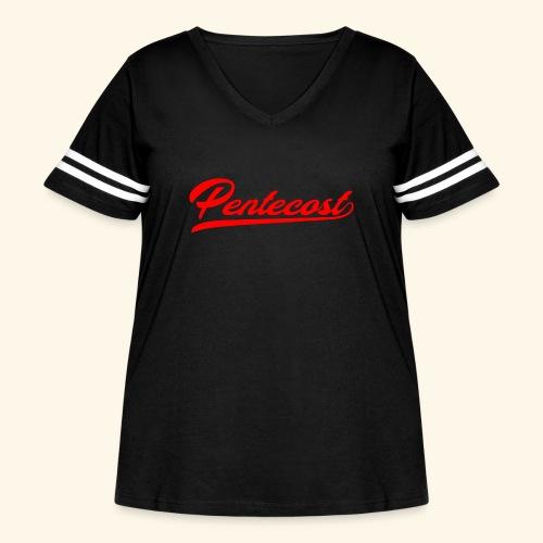 Pentecost T-Shirt - Women's Curvy Vintage Sport T-Shirt