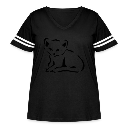 Kitty Cat - Women's Curvy Vintage Sport T-Shirt