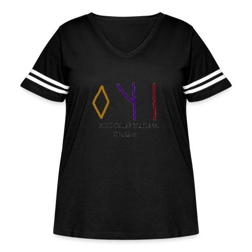 Kyoshin-Tekina Studios logo (black test) - Women's Curvy Vintage Sport T-Shirt