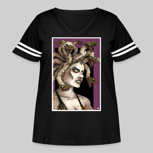 Medusa - Women's Curvy Vintage Sport T-Shirt