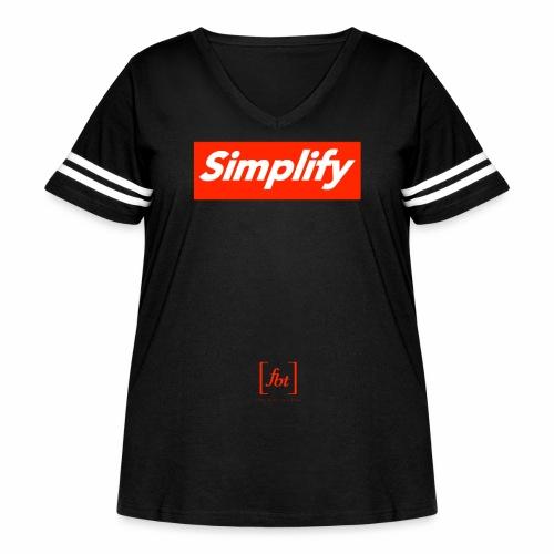 Simplify [fbt] - Women's Curvy Vintage Sport T-Shirt