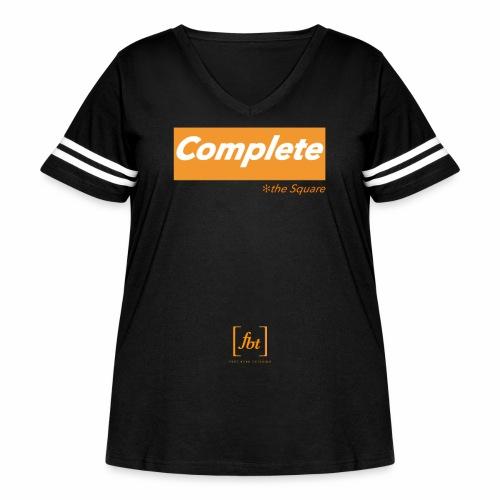 Complete the Square [fbt] - Women's Curvy Vintage Sport T-Shirt