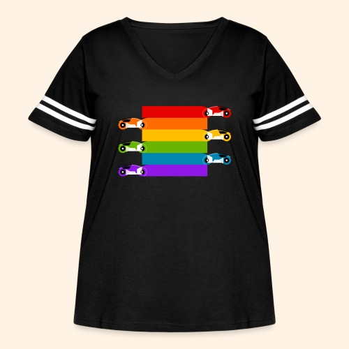 Pride on the Game Grid - Women's Curvy Vintage Sport T-Shirt