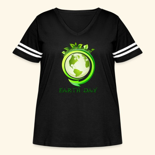 Happy Earth day - 2 - Women's Curvy Vintage Sport T-Shirt