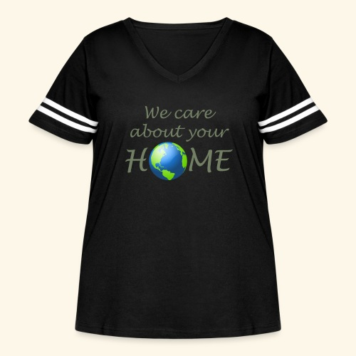 Happy Earth day - Women's Curvy Vintage Sport T-Shirt