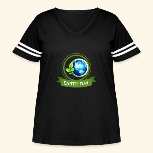 Happy Earth day - 3 - Women's Curvy Vintage Sport T-Shirt