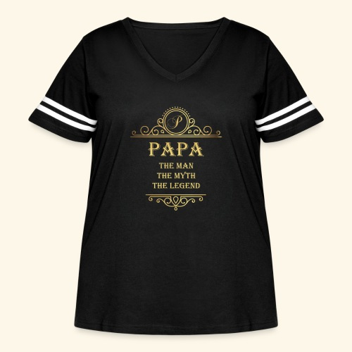 Papa the man the myth the legend - 2 - Women's Curvy Vintage Sport T-Shirt