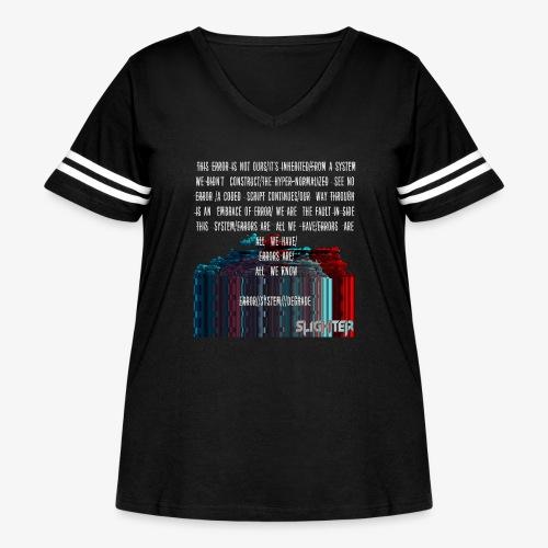 ERROR Lyrics - Women's Curvy Vintage Sports T-Shirt