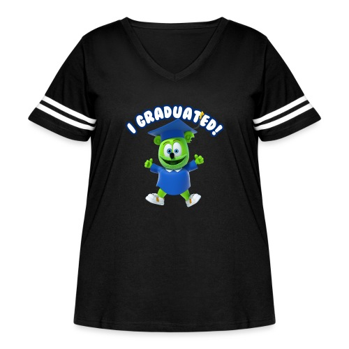 I Graduated! Gummibar (The Gummy Bear) - Women's Curvy Vintage Sport T-Shirt