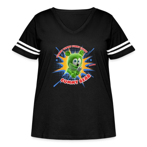 Funny Lucky Gummy Bear - Women's Curvy Vintage Sport T-Shirt