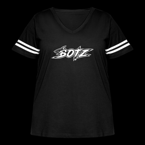 BOTZ White Logo - Women's Curvy Vintage Sport T-Shirt