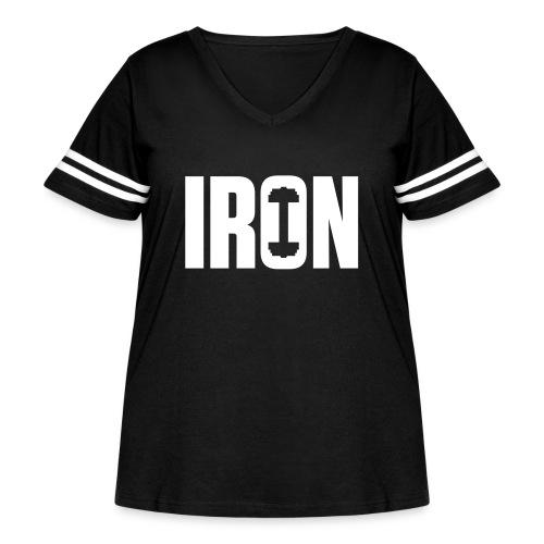 IRON WEIGHTS - Women's Curvy Vintage Sport T-Shirt