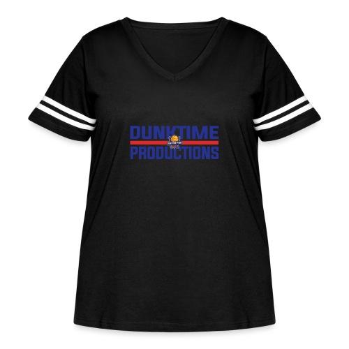 DUNKTIME Retro logo - Women's Curvy Vintage Sport T-Shirt